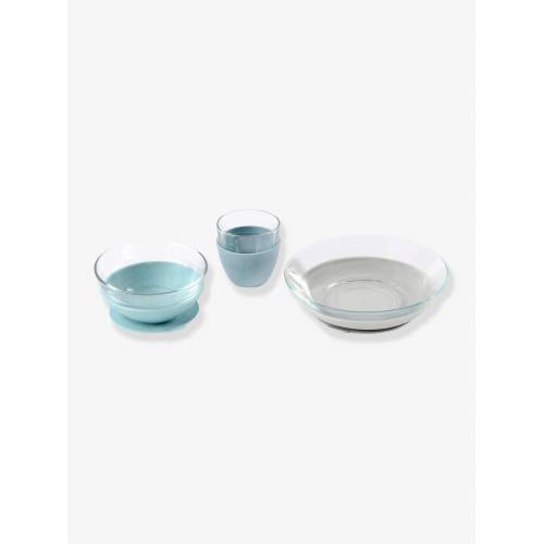 Beaba Baby Esslern-Geschirr aus Glas BEABA® blau