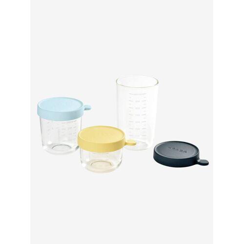 Beaba 3er-Set Vorratsdosen aus Glas BEABA® gelb/blau/blau