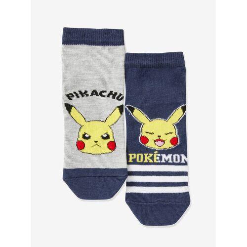 Pokemon 2er-Pack Kinder Socken POKEMON™ blau/grau Gr. 31/34