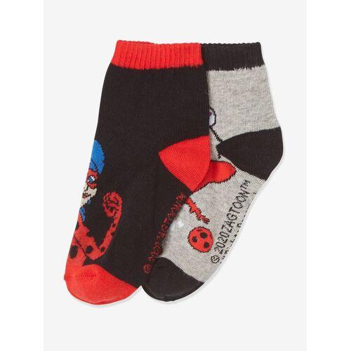 "Miraculous 2er-Pack Socken ""Lady Bug"" MIRACULOUS schwarz/rot Gr. 31/34"