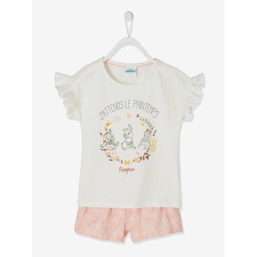 Disney Mädchen Kurzpyjama BAMBI weiß/rosa Gr. 140