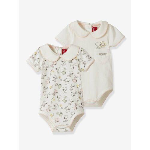 Snoopy 2er-Pack Baby Bodys PEANUTS® SNOOPY, Bio-Baumwolle weiß/Gr. 74