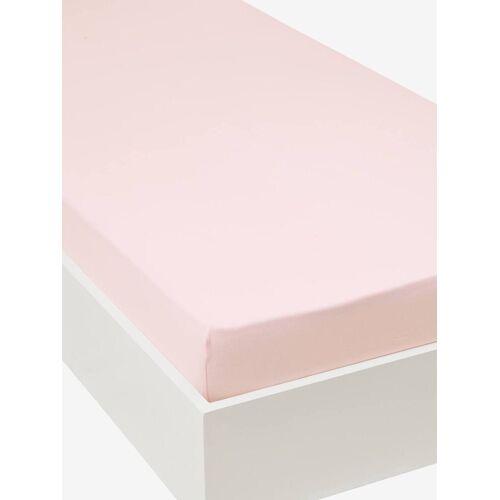 Vertbaudet Jersey-Spannbettlaken für Kinderbetten Oeko Tex® rosa Gr. 90x190 von vertbaudet