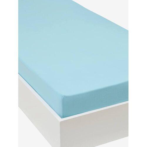 Vertbaudet Jersey-Spannbettlaken für Kinderbetten Oeko Tex® blau Gr. 90x140 von vertbaudet