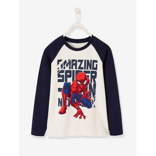 Spiderman Longsleeve für Jungen SPIDERMAN weiß/nachtblau Gr. 98/104