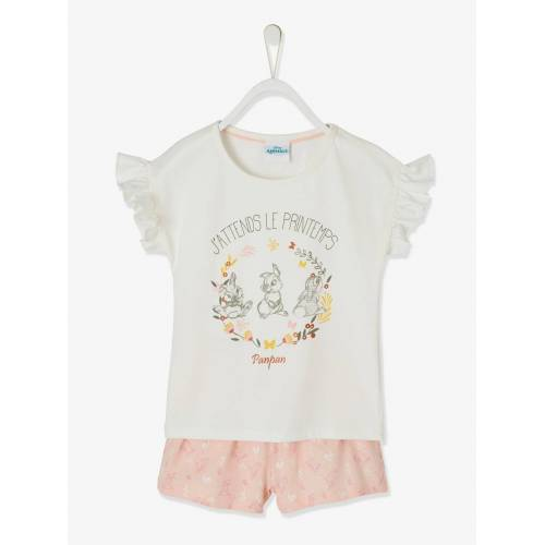 Disney Mädchen Kurzpyjama BAMBI weiß/rosa Gr. 146/152