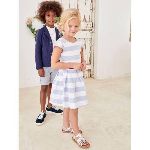 Vertbaudet Mädchen Festkleid weiß/blau Gr. 92 von vertbaudet