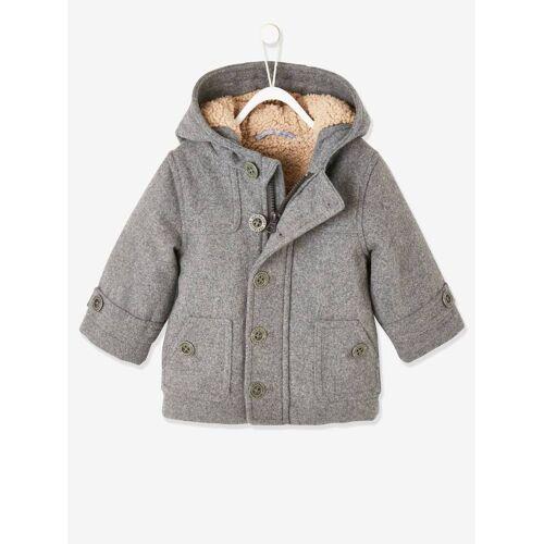 Vertbaudet Baby Winterjacke, Woll-Mix grau Gr. 62 von vertbaudet