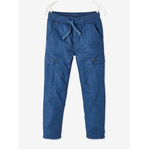 Vertbaudet Jungen Thermohose, Cargo-Style blau Gr. 98/104 von vertbaudet