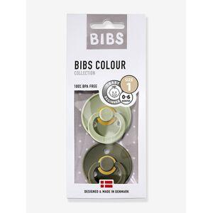 """Bibs 2 Beruhigungssauger """"Colour"""" BIBS, Gr. 1 (0-6 Monate) grün/khaki"""
