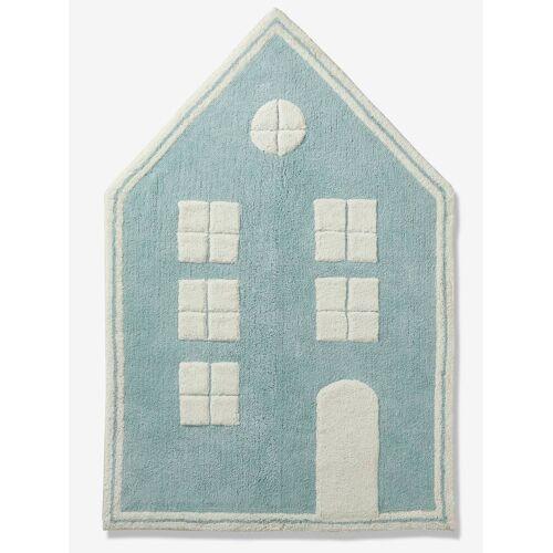 """Vertbaudet Kinder Teppich """"Mein blaues Haus"""" blau von vertbaudet"""