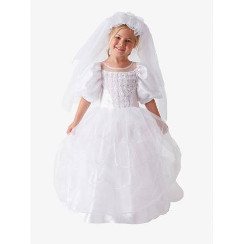 Vertbaudet Brautkleid-Kostüm für Mädchen weiß Gr. 92/104 von vertbaudet