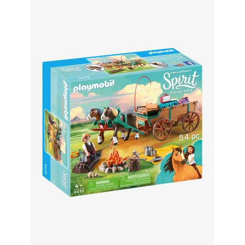 "Playmobil Spirit  ""Vater Jim mit Kutsche"""