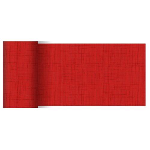 Duni Tischläufer Dunicel Linnea rot 0,15x20 Meter 1St.