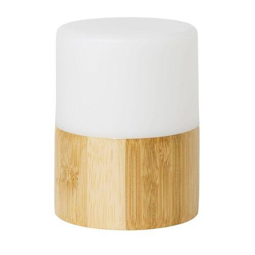 Duni LED Kerzenhalter Good Bambus Bright 105x75mm 1 St.