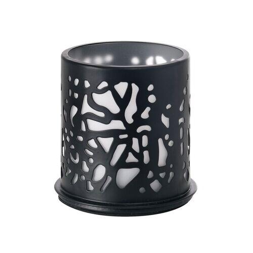 Duni Kerzenhalter Twine Metall schwarz 75 x 75 mm 1 St.