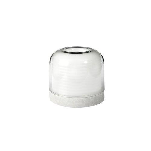 Duni Kerzenhalter Stella Glas weiß 73 x 82 mm 1 St.