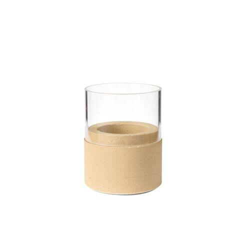 Duni Kerzenhalter Neat Glas sand 75 x 68 mm 1 St.