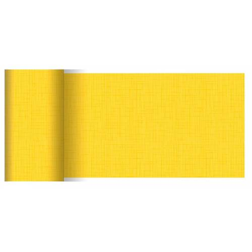 Duni Tischläufer Dunicel Linnea gelb 0,15x20 Meter 1St.