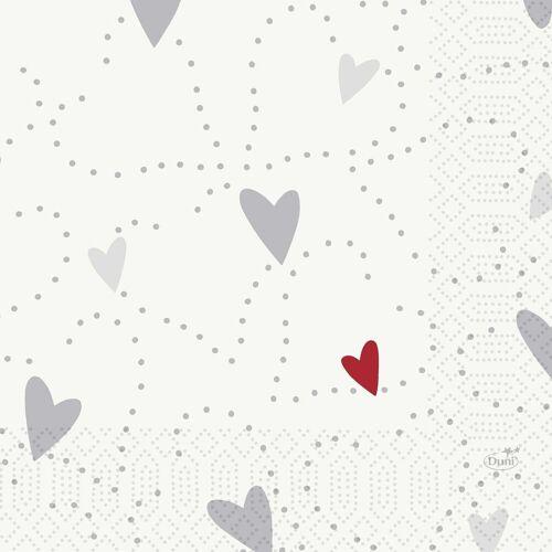 Duni Zelltuch Servietten Love 33x33 3lag 50St.