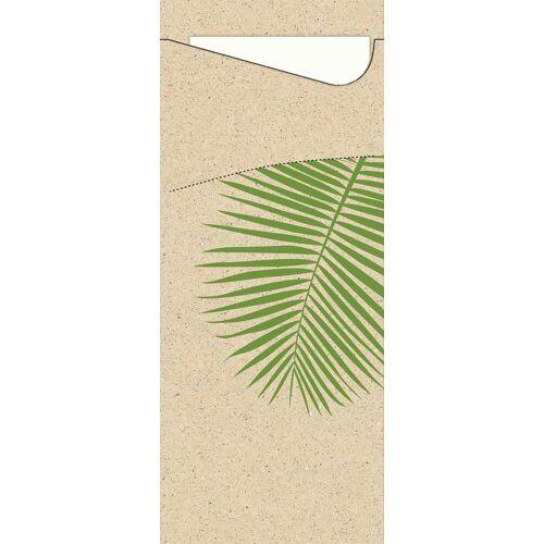 Duni Bestecktasche Sacchetto Leaf (Graspapier) 8,5x19 100St.