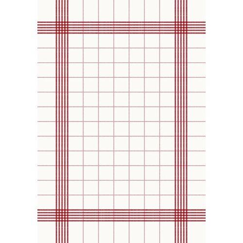 Duni Towel Napkin weiß/rot 38x54 cm 50 St.