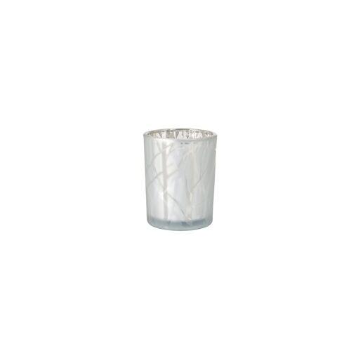 Duni Kerzenhalter Shimmer white 100 x 80 mm 1 St.