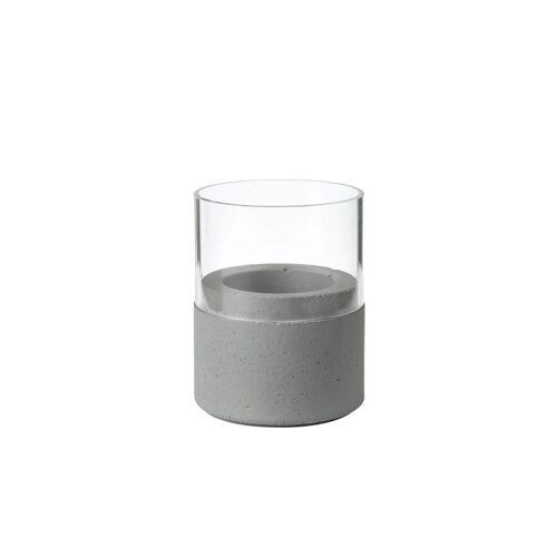 Duni Kerzenhalter Neat Glas dark grey 75 x 68 mm 1 St.