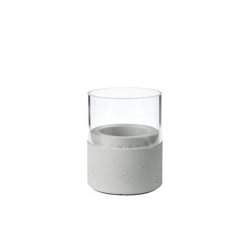 Duni Kerzenhalter Neat Glas grey 75 x 68 mm 1 St.