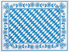 Duni Tischset Dunicel Bayer. Raute 30x40 100St.
