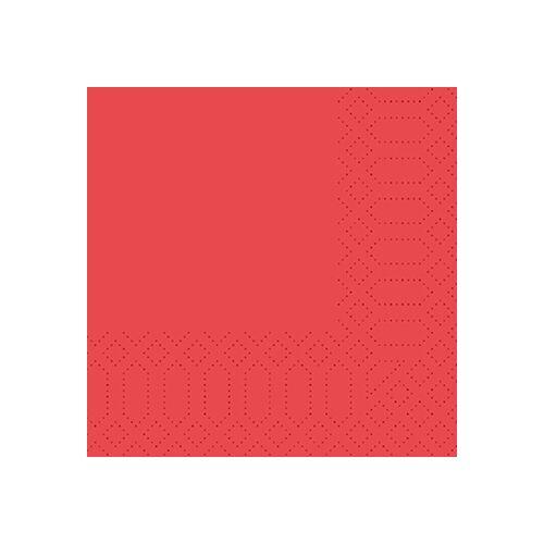 Duni Zelltuch Servietten rot 24x24 3lag 250St.