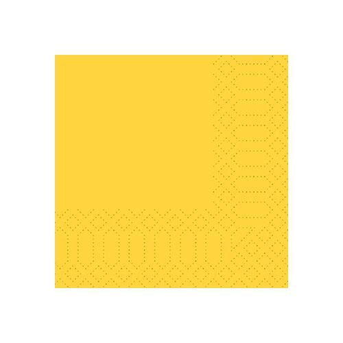 Duni Zelltuch Servietten gelb 24x24 3lag 250St.