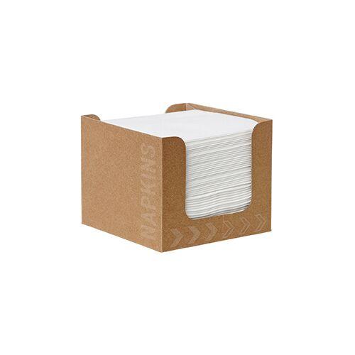 Duni Spenderbox Dunisoft Servietten Karton weiß 20x20cm 50 St.
