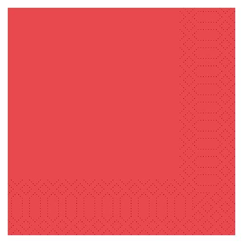 Duni Zelltuch Servietten rot 33x33 3lag 50St.