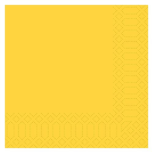 Duni Zelltuch Servietten gelb 33x33 3lag 50St.