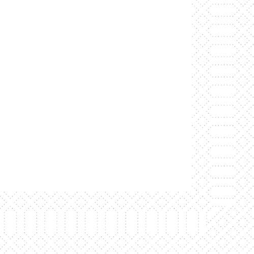 Duni Zelltuch Servietten weiß 40x40 3lag 250St.