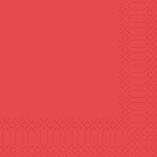 Duni Zelltuch Servietten rot 40x40 3lag 250St.
