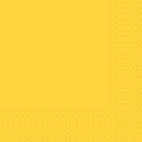 Duni Zelltuch Servietten gelb 40x40 3lag 250St.