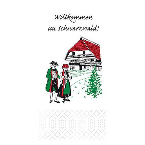 Duni Zelltuch Servietten Schwarzwald 33x33 3lag 1/8Falz 250St.