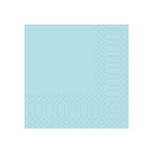 Duni Zelltuch Servietten mint blue 24x24 3lag 250St.