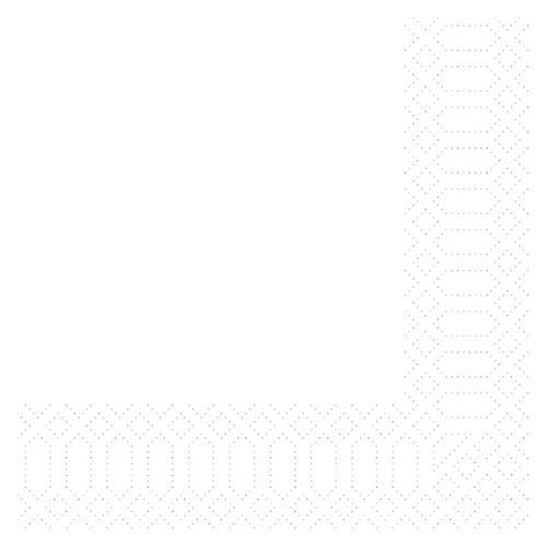 Duni Zelltuch Servietten weiß 33x33 3lag 50St.