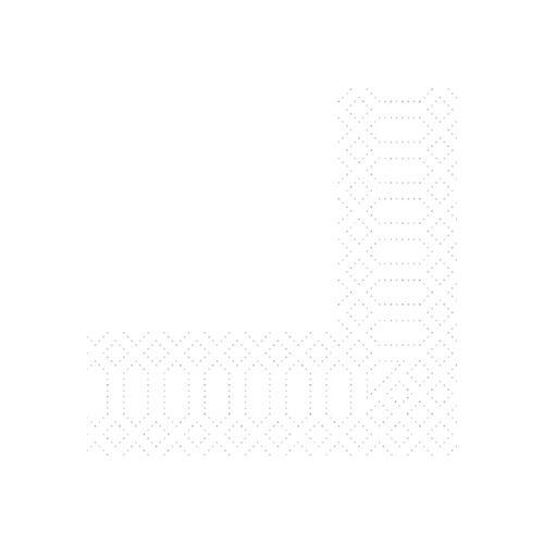 Duni Zelltuch Servietten weiß 24x24 2lag 300St.