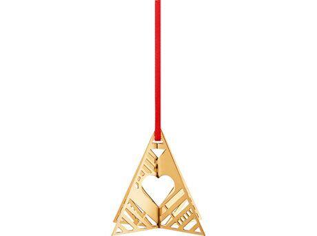 Jensen Georg Jensen CC 2019 Ornament Stjerne & Træ - 2 stk. - 18 kt guldbelagt messing