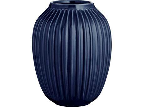 Kähler Hammershøi Vase - H 25 cm - Keramik - Indigo