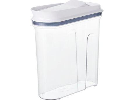 OXO POP Opbevaringsboks - 2,3 liter - ABS-plastik/silikone - Inkl. låg i hvid plast
