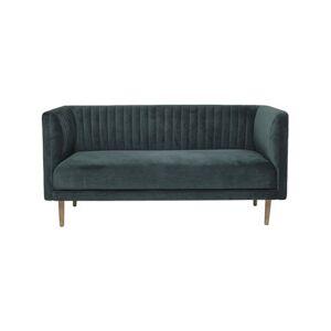 Bloomingville Nolan Sofa - H 77 x B 70 x D 157 cm - Polyester/rustfrit stål/egetrae - Grøn