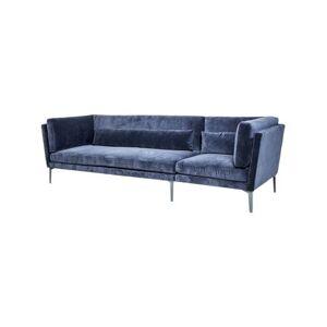 Bloomingville Rox Sofa - H 82 x B 90 x L 293 cm - Polyester - Blå