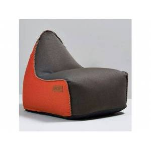 SACKit Retroit Canvas Sækkestol - H 70 x B 80 x L 96 cm - Kanvas/EPS kugler - Brown/orange