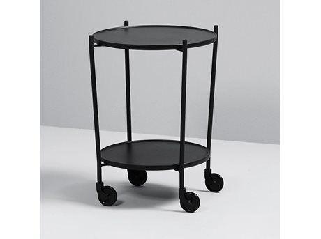 SACKit Rollit Tray Table - Ø 51,8 x H 63,3 cm - Stål/MDF - Black