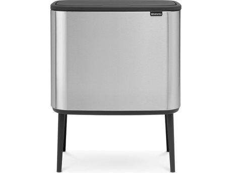 Brabantia Affaldsspand BO - 11/23 liter - Plastik/stål - Mat stål